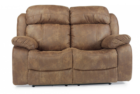 Image of NuvoLeather Reclining Loveseat