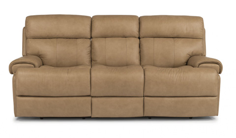 Image of Leather Power Reclining Sofa