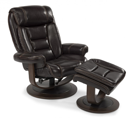 Flexsteel - Leather Chair and Ottoman - 1455-CO