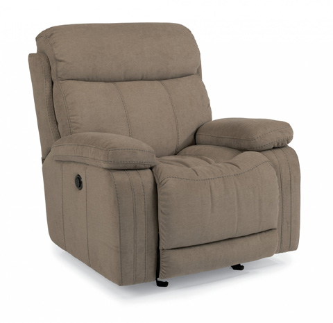 Image of Fabric Power Gliding Recliner