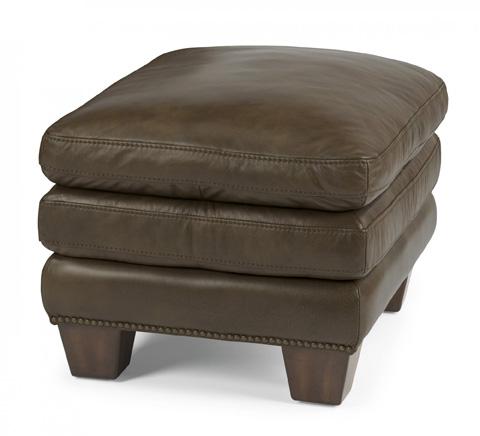 Flexsteel - Leather Ottoman - 1530-08