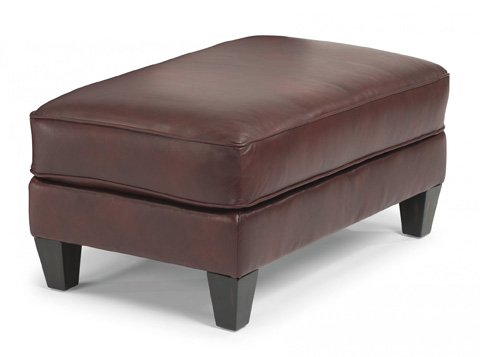 Image of Leather Cocktail Ottoman