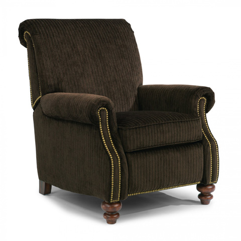 Image of Fabric Power High-Leg Recliner