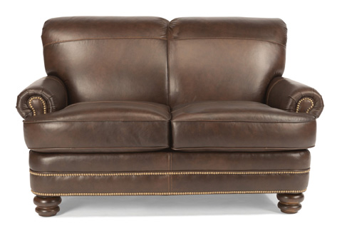 Image of Leather Loveseat