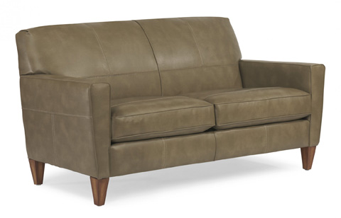 Image of NuvoLeather Two-Cushion Sofa