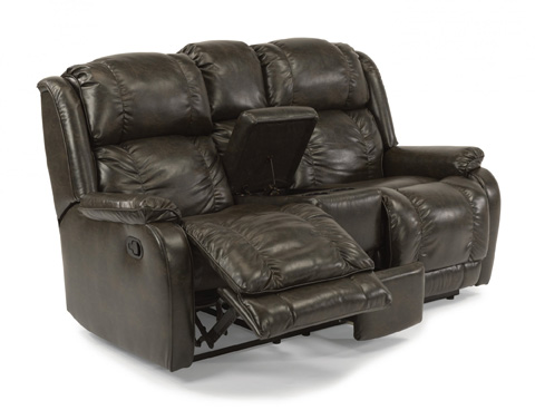 Image of Reclining Loveseat with Console