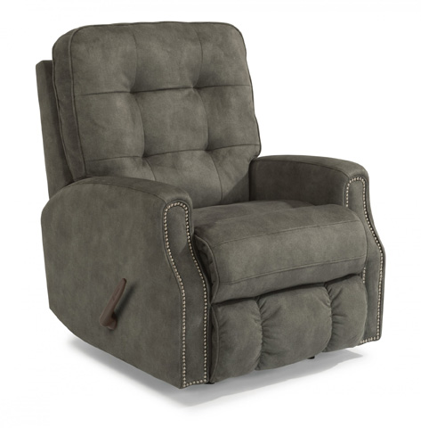 Image of Fabric Recliner with Nailhead Trim