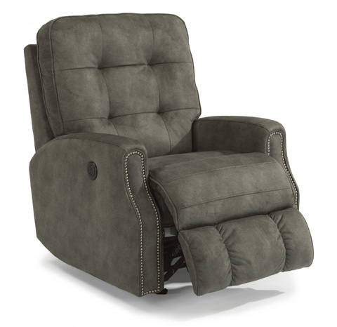 Flexsteel - Fabric Power Recliner with Nailhead Trim - 2881-50M