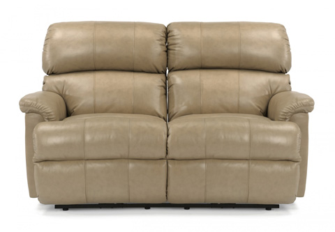 Image of Leather Reclining Loveseat