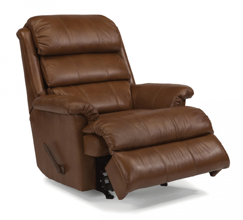 Flexsteel - Leather Rocking Recliner - 3209-510
