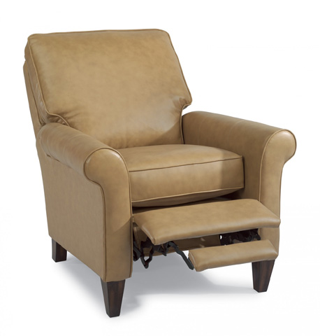 Image of Leather Power High-Leg Recliner