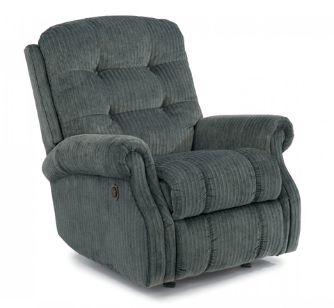 Image of Fabric Power Recliner without Nailhead Trim