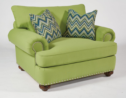Image of Fabric Chair with Nailhead Trim