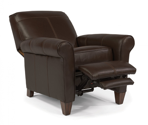 Image of Leather High-Leg Recliner