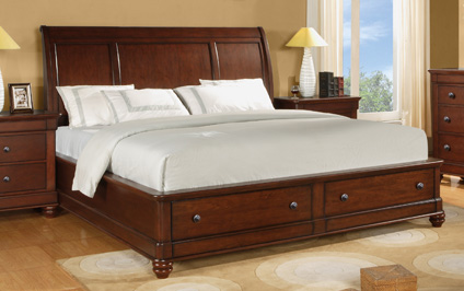 Image of Queen Sleigh Bed with Storage