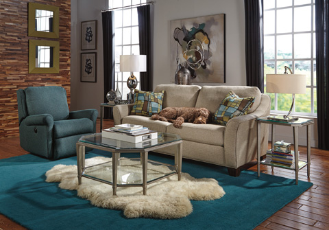Image of Claudine Three Piece Living Room Collection