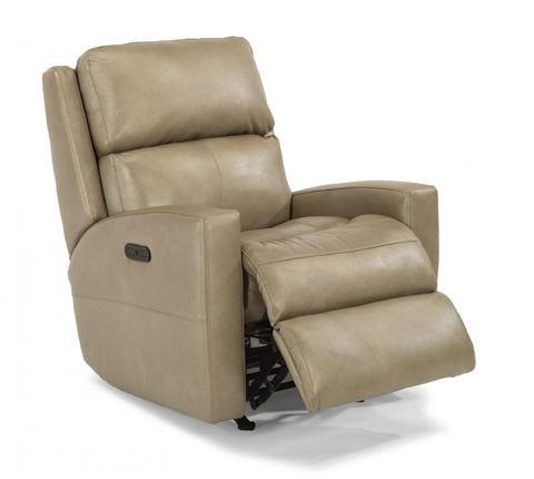 Image of Leather Power Rocking Recliner with Power Headrest