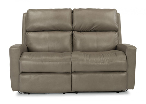 Image of Catalina Leather Reclining Loveseat