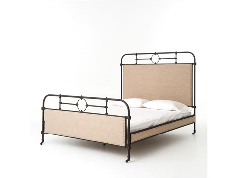 Image of Berkley Metal and Upholstered Bed