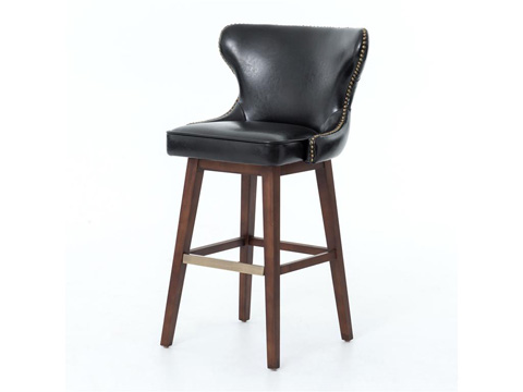 Image of Black Julie Swivel Barstool
