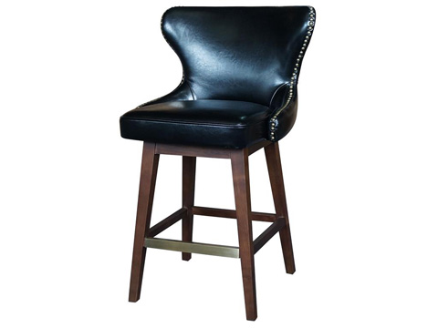 Image of Black Julie Swivel Counterstool