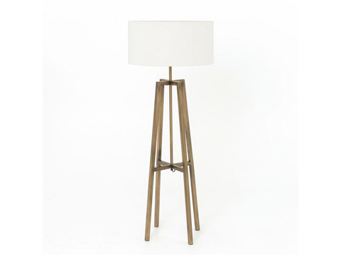 Image of Lewis Floor Lamp in Brass