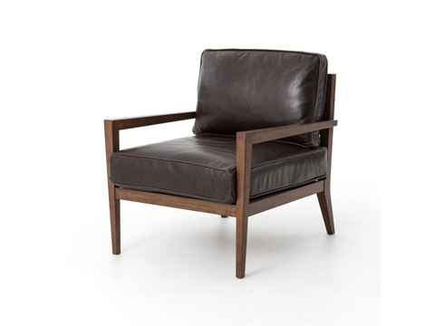 Image of Laurent Wood Frame Accent Chair