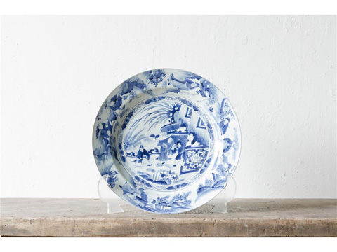 Image of Blue and White Plate