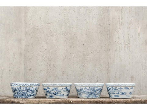 Image of Blue and White Bowl Set