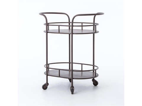 Image of Teague Oval Bar Cart
