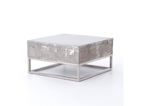 Image of Concrete And Chrome Coffee Table