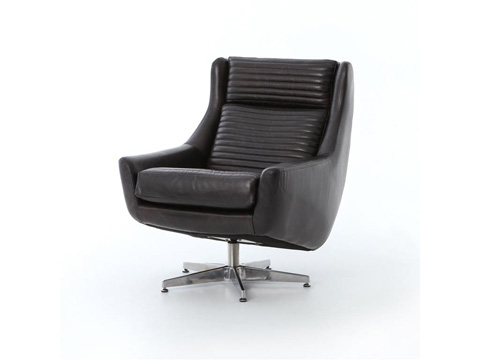 Four Hands - Charles Swivel Chair - CCAR-Y9-RBK