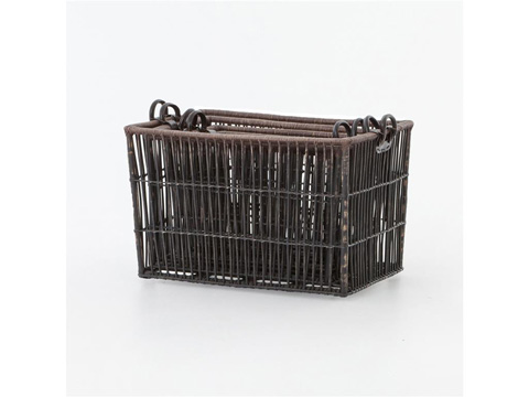Image of Nesting Wicker Baskets-Set Of 4
