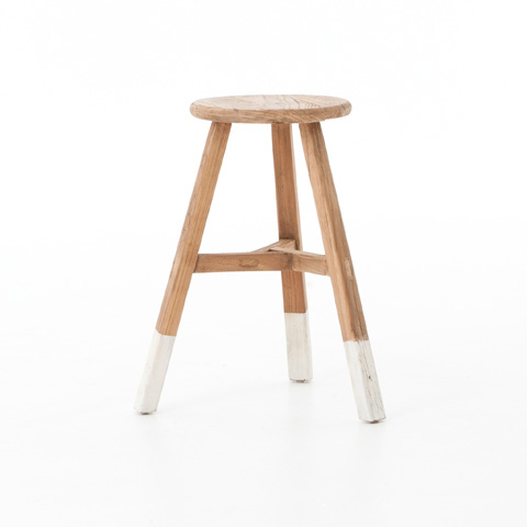 Image of White Dipped Stool
