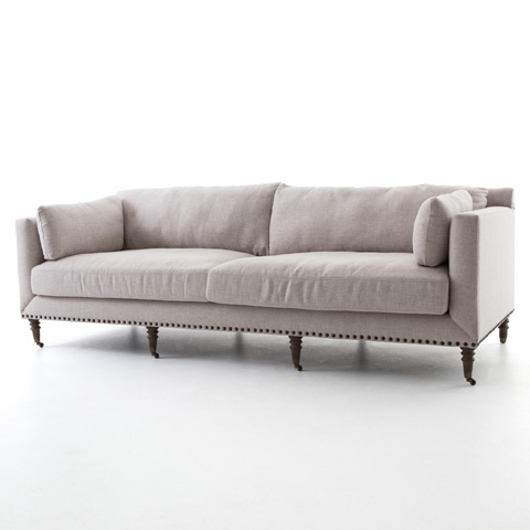Image of Turned Leg Sofa in Axis Stone