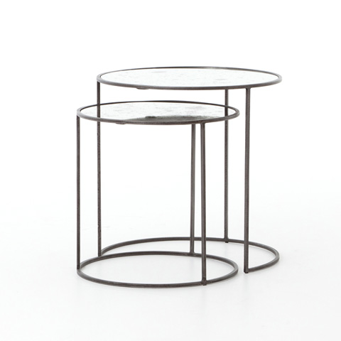 Image of Iron And Glass Cylinder Table