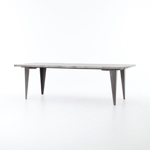 Image of Charcoal and Iron Dining Table