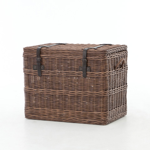 Image of Wicker Trunk End Table