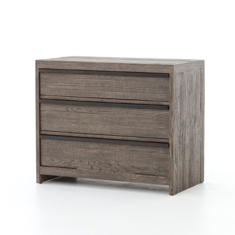Image of Low Wide Three Drawer Chest in Earth Grey