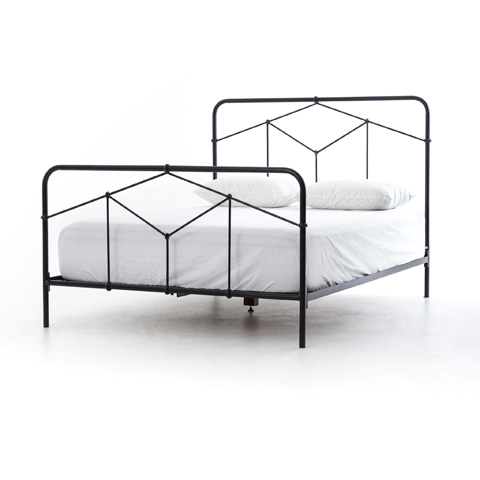 Image of Primitive Casey Metal Panel Bed