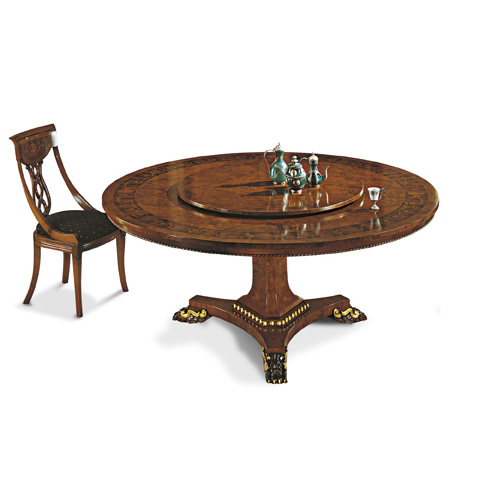 Image of Dining Table With Lazy Susan