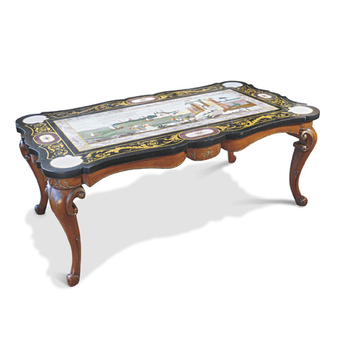 Image of Dining Table with Marble Top
