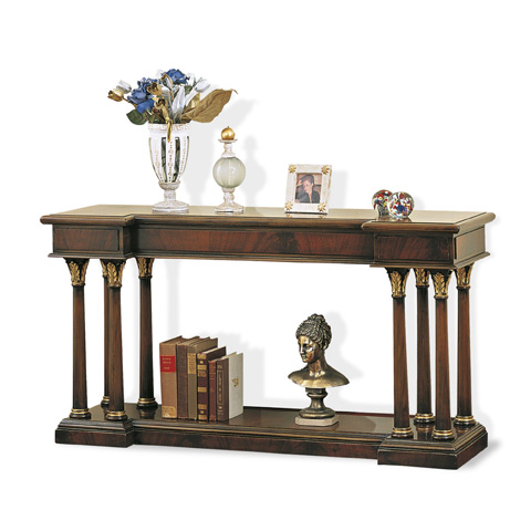 Image of Console Table with Grooved Columns