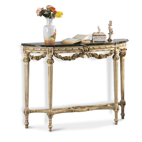 Image of Console Table with Marble Top