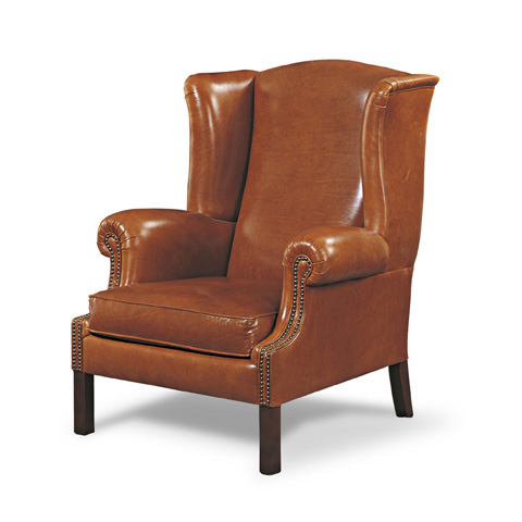 Francesco Molon - Leather Wing Chair - P362