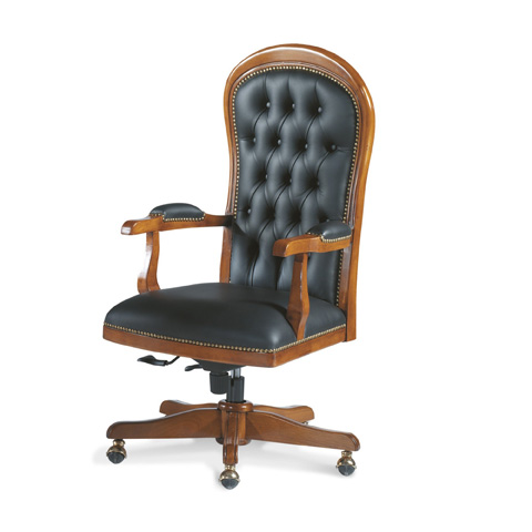 Francesco Molon - Leather Office Chair - P408