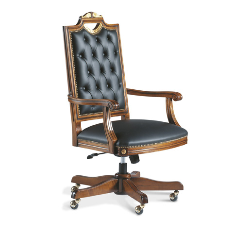 Francesco Molon - Leather Office Chair - P409