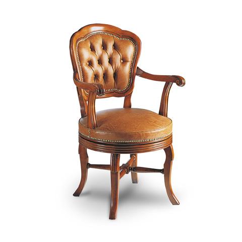Francesco Molon - Turning Leather Dining Arm Chair - P75.01