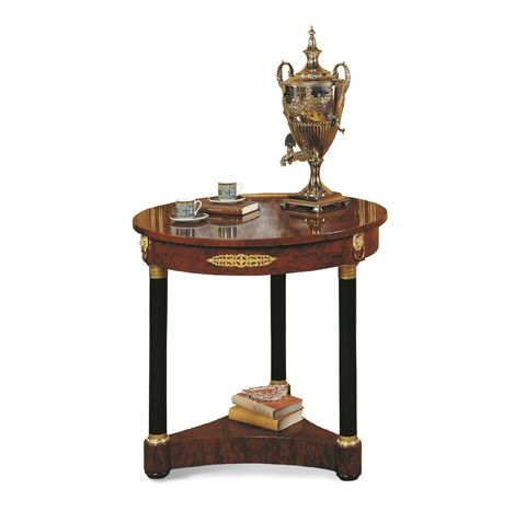 Image of Small Round Empire Accent Table