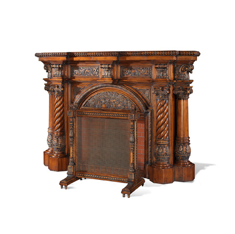 Francesco Molon - Carved Fireplace - U310
